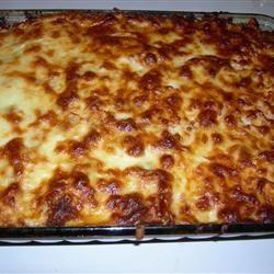 Chicken Parmesan Pasta Casserole