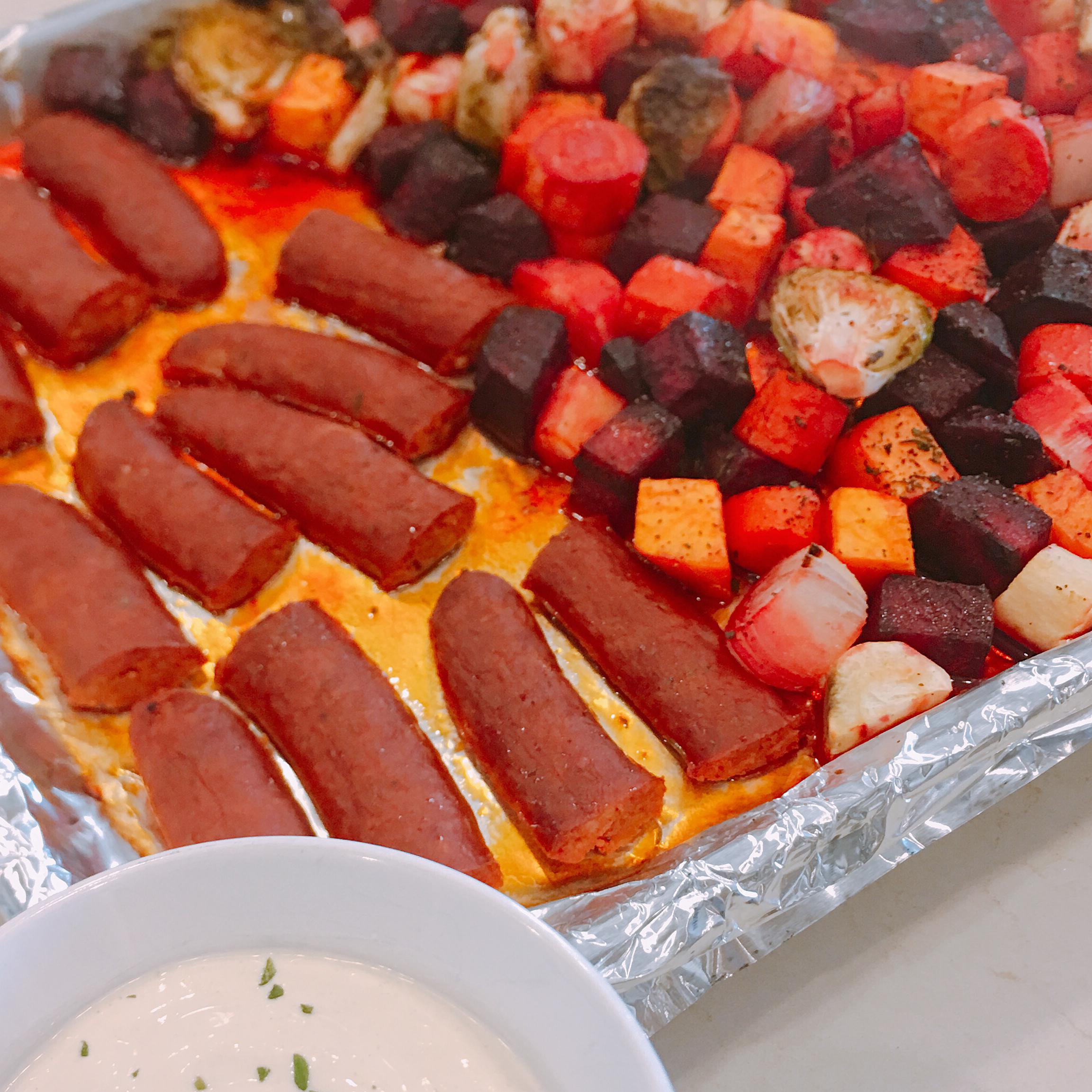 Hillshire Farm® Smoked Sausage and Roasted Root Veggies charlie