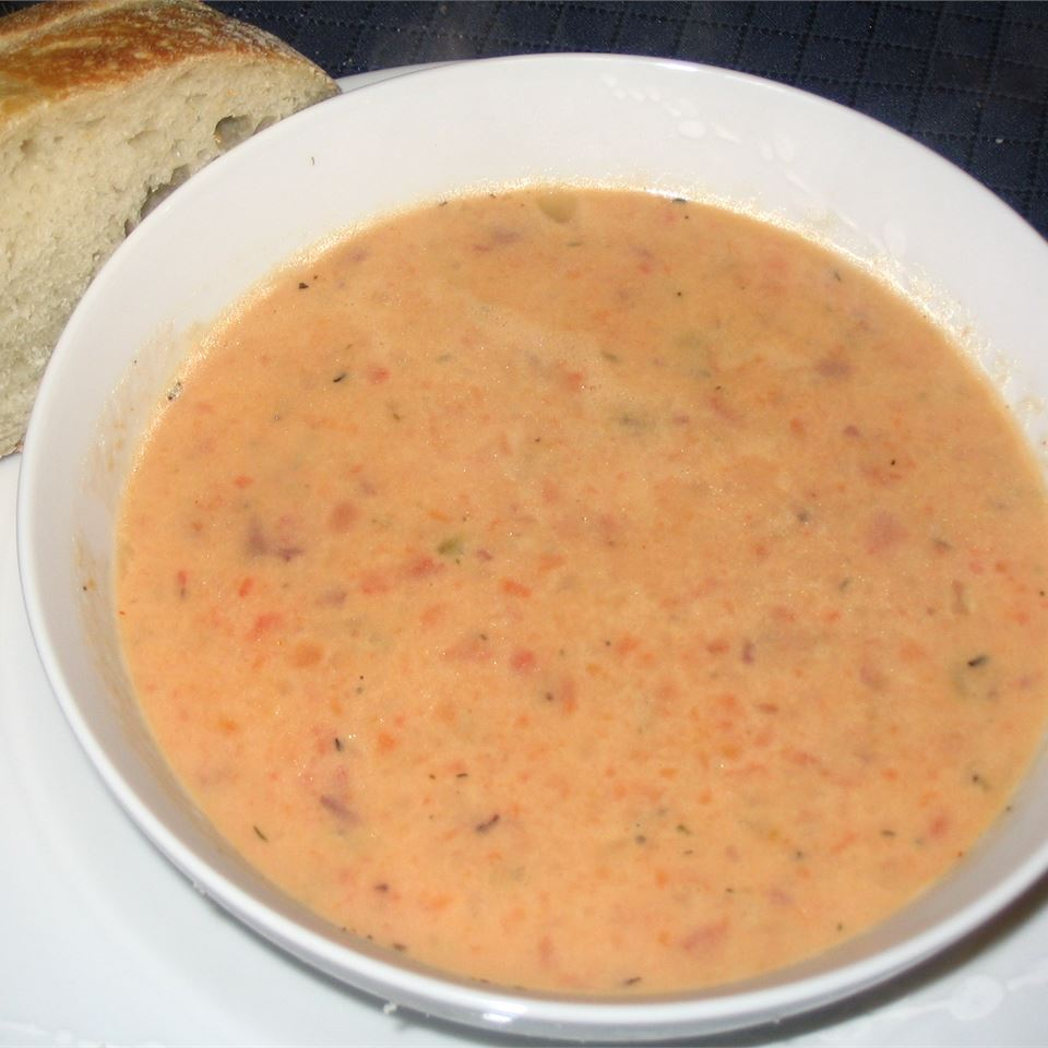 Roasted Red Pepper and Potato Soup stylistmama