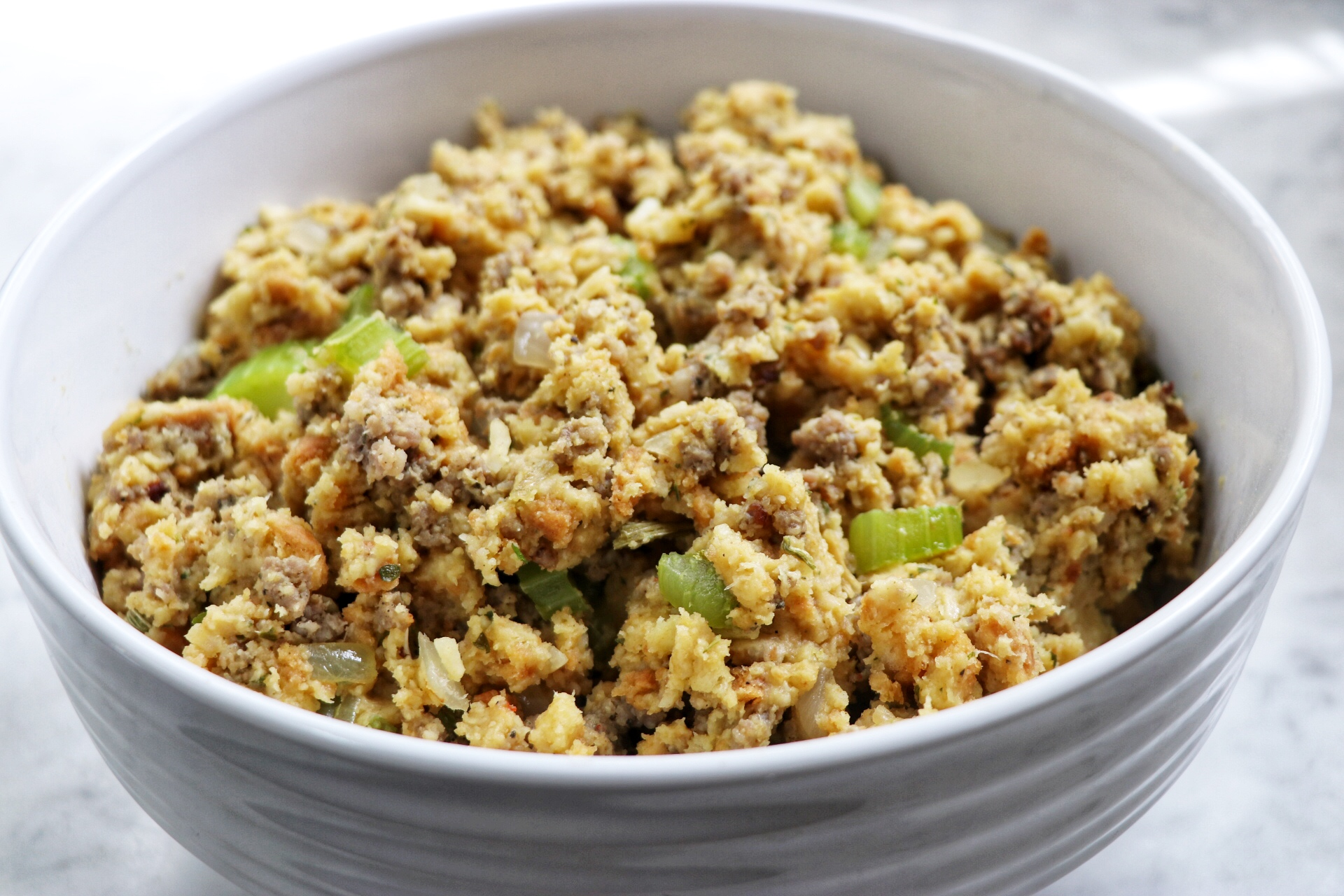 Easiest Sausage Stuffing