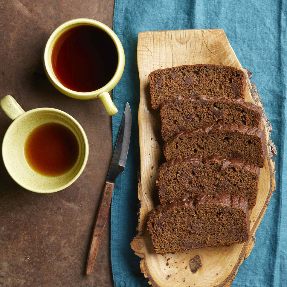 Pumpkin bread gets a chocolatey makeover in this healthy recipe that has cocoa powder in the batter and is studded with even more chocolate in the form of melty chips. This easy quick bread is so tasty, it could pass as a dessert. Source: EatingWell.com, September 2018