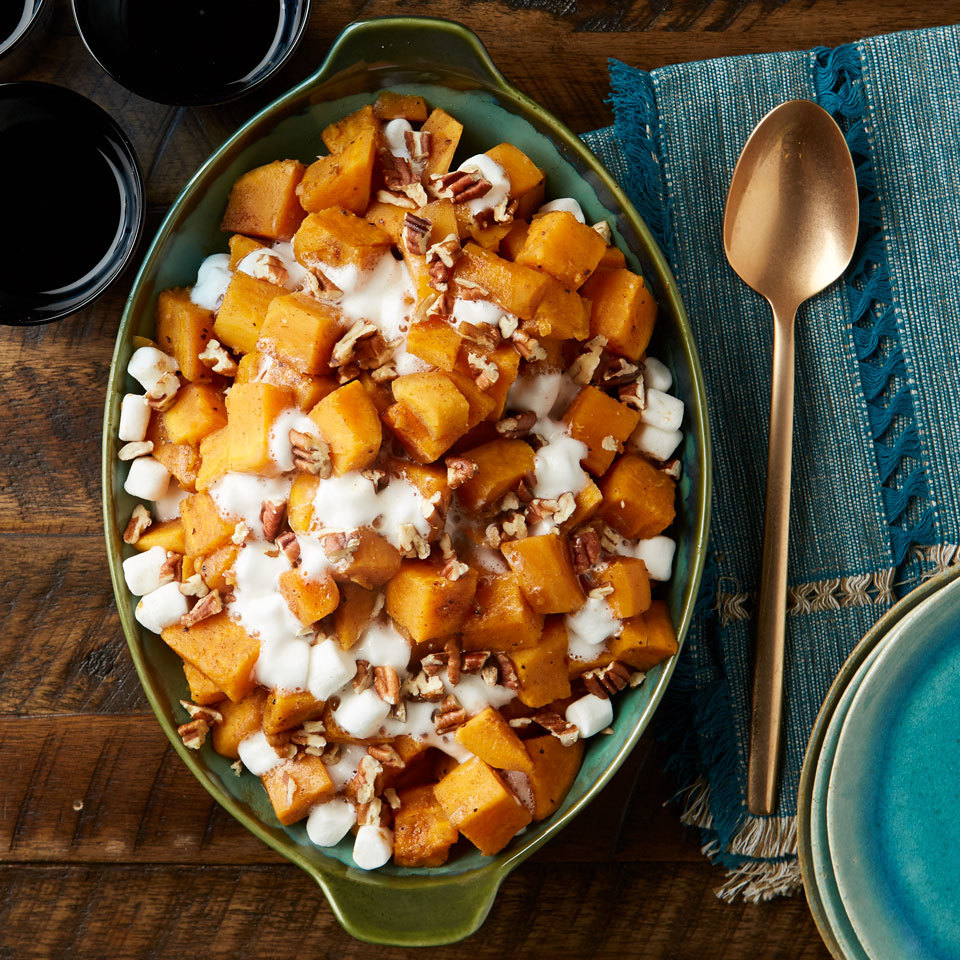 Use any multicooker or electric pressure cooker to make this classic Thanksgiving side dish. The sweet potatoes get perfectly tender and almost caramelized while cooking under high pressure, plus using your multicooker saves stovetop and oven space.