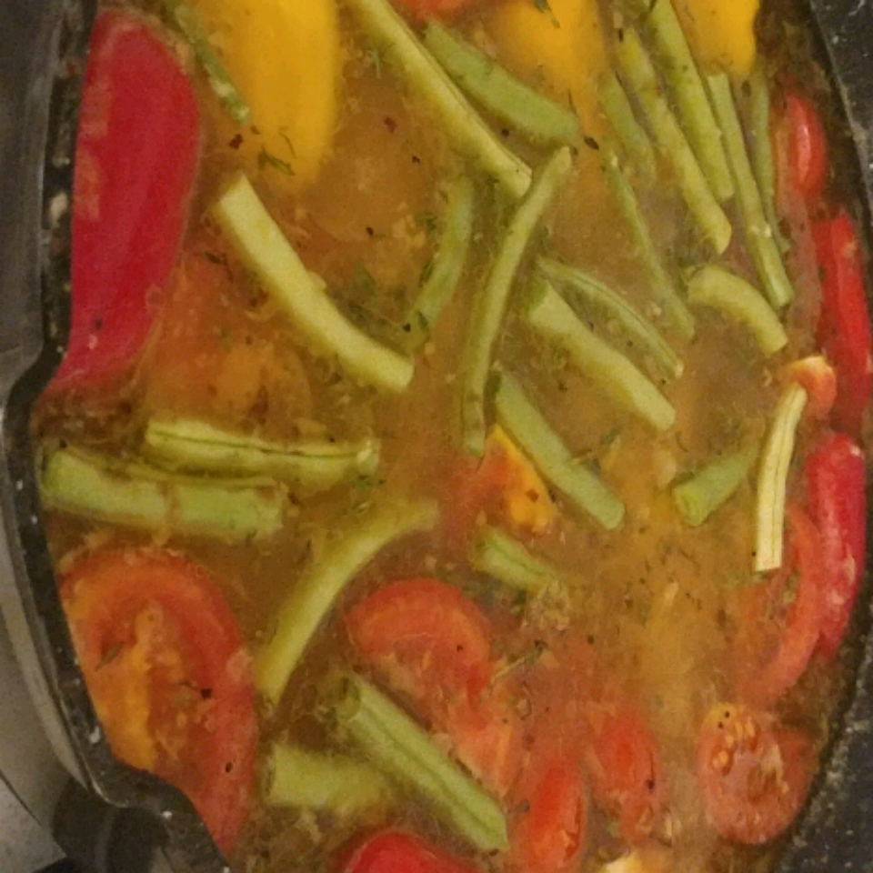 Braised Chicken and Artichoke Hearts with Lemon, Cherry Peppers and Thyme jana