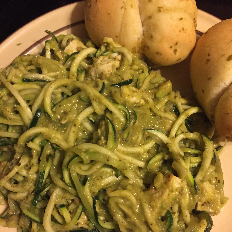 Avocado Pesto with Zucchini Pasta Mary M Vance