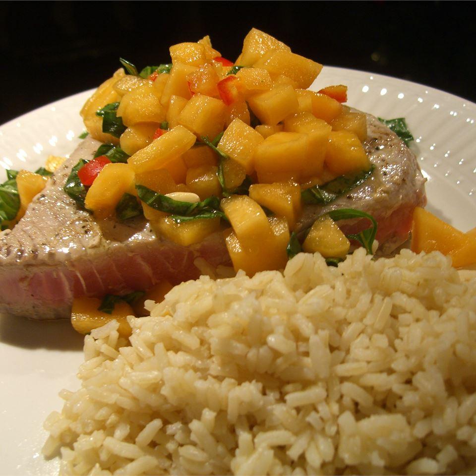 Tuna Steaks with Melon Salsa The Little Maskols