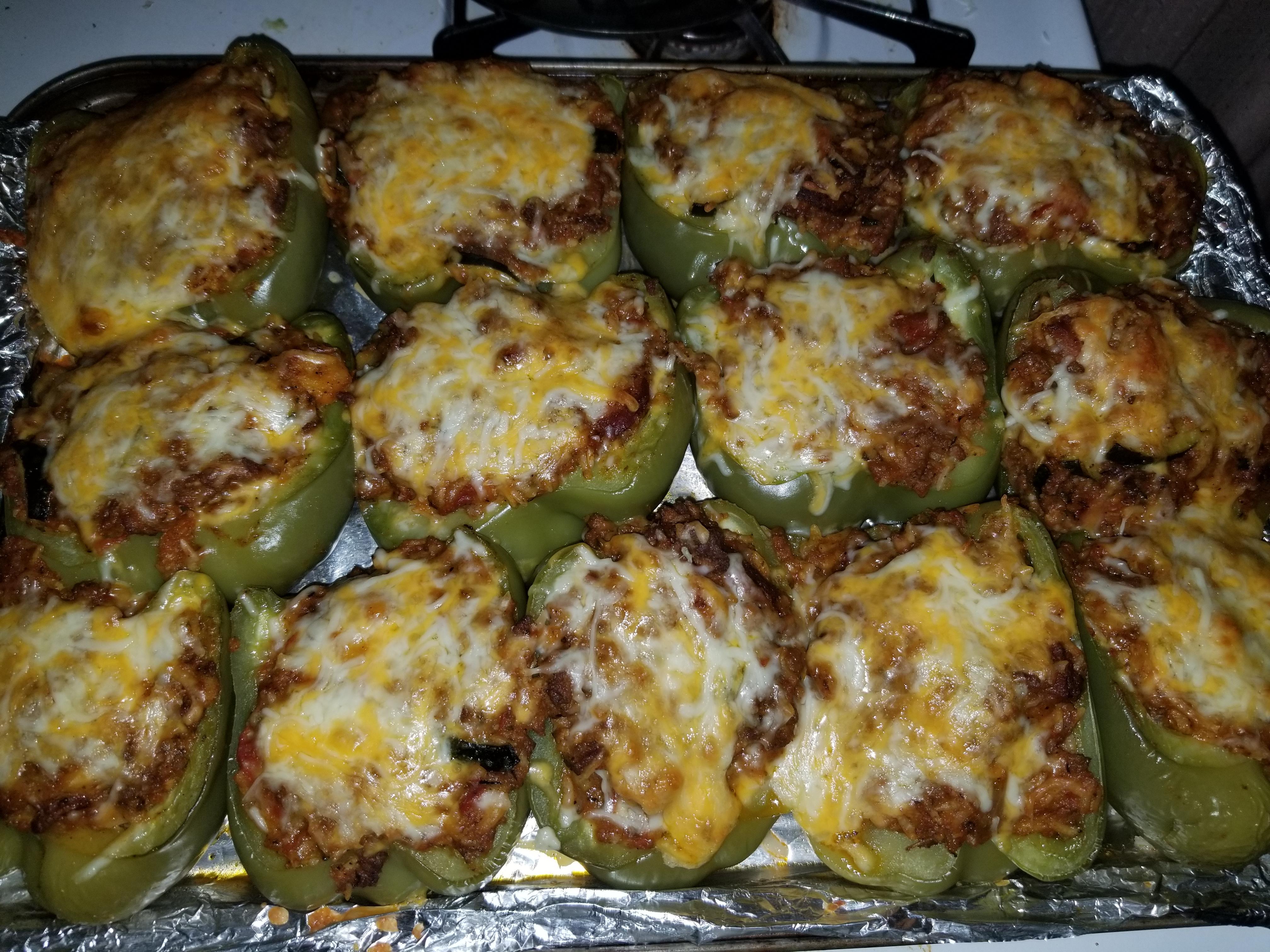 Cajun Style Stuffed Peppers Dlove