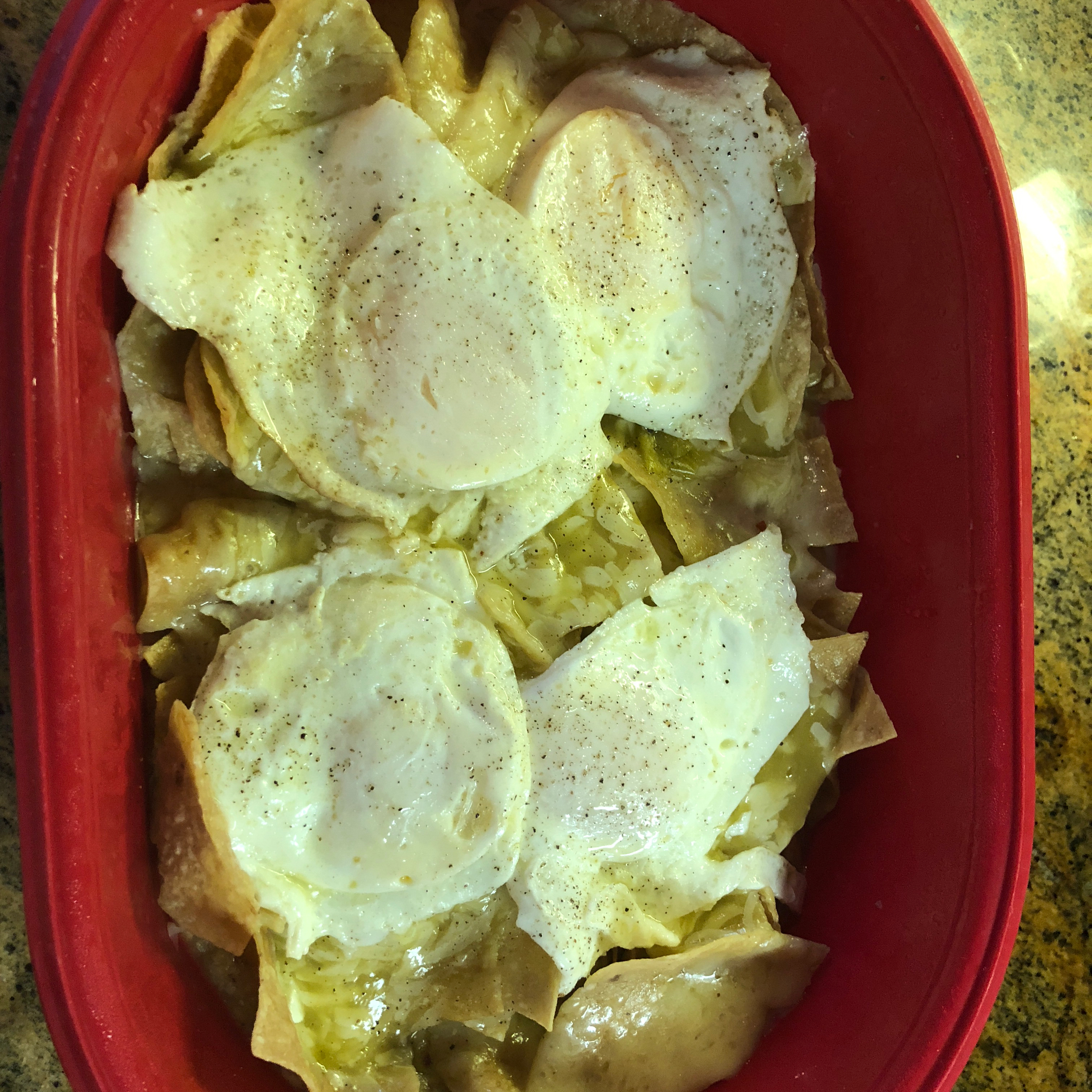 Easy Microwave Chilaquiles rodimarco