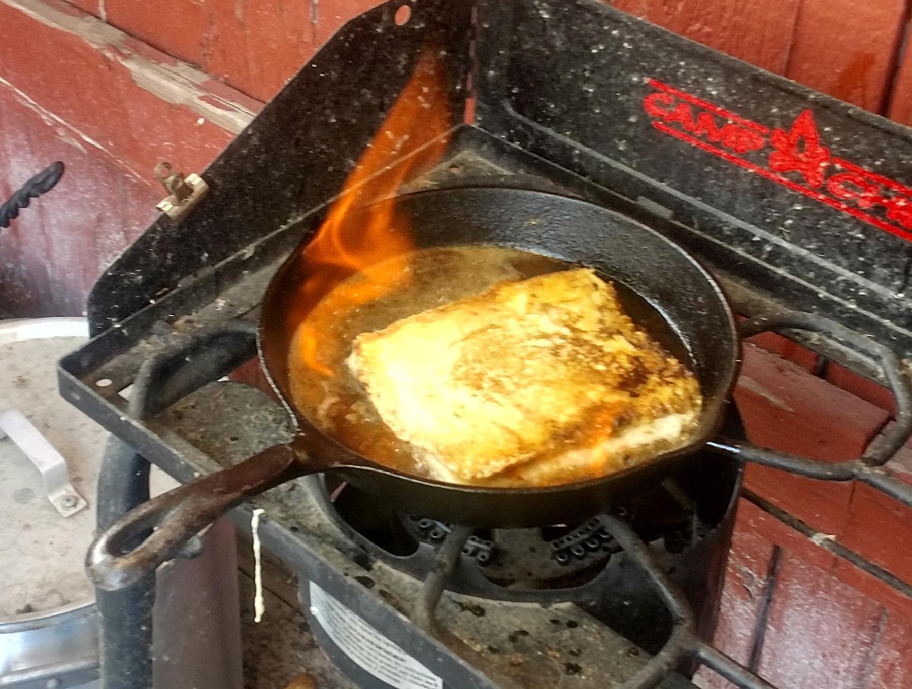 Flaming Greek Cheese (Saganaki) Leo George McDowell