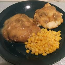 Baked Chicken-Fried Steak with Mushroom Gravy Linda Farrell