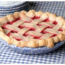 Rhubarb Cherry Pie youngcook