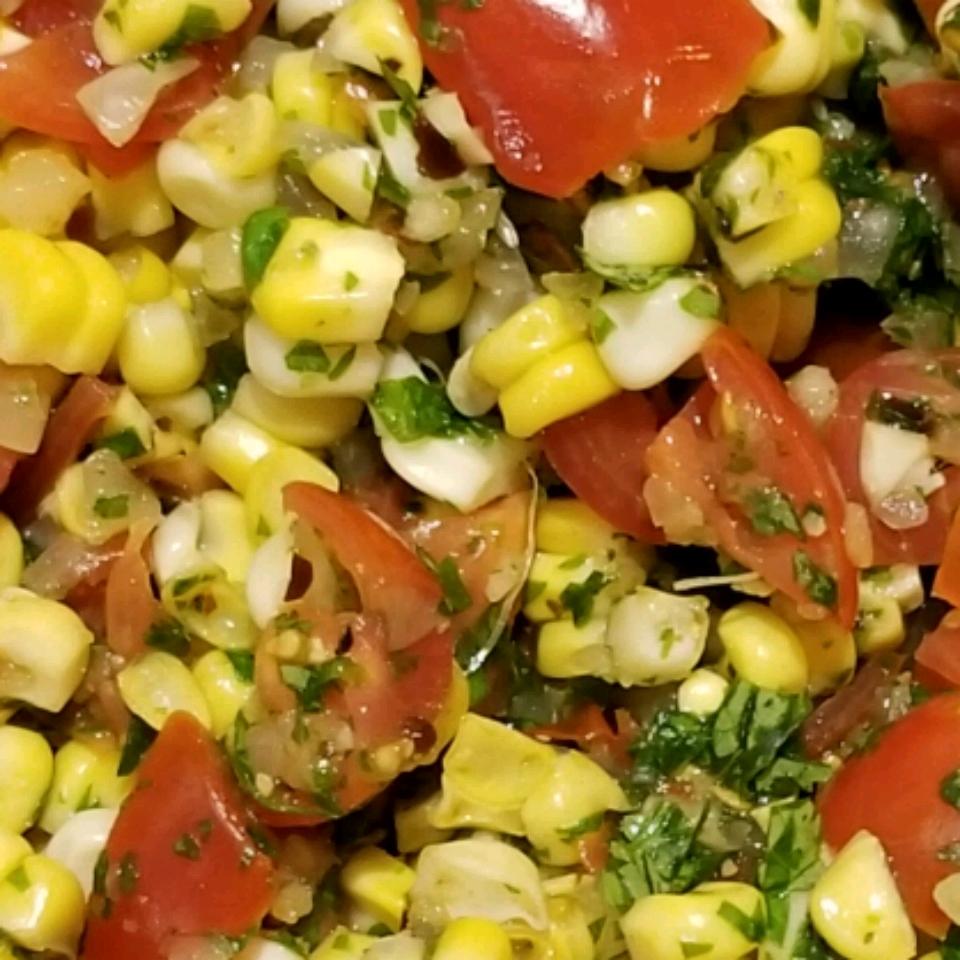 Cilantro Tomato Corn Salad Roseli17