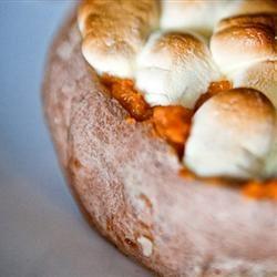 Twice-Baked Sweet Potatoes With Mini Marshmallows Deanna Cathcart