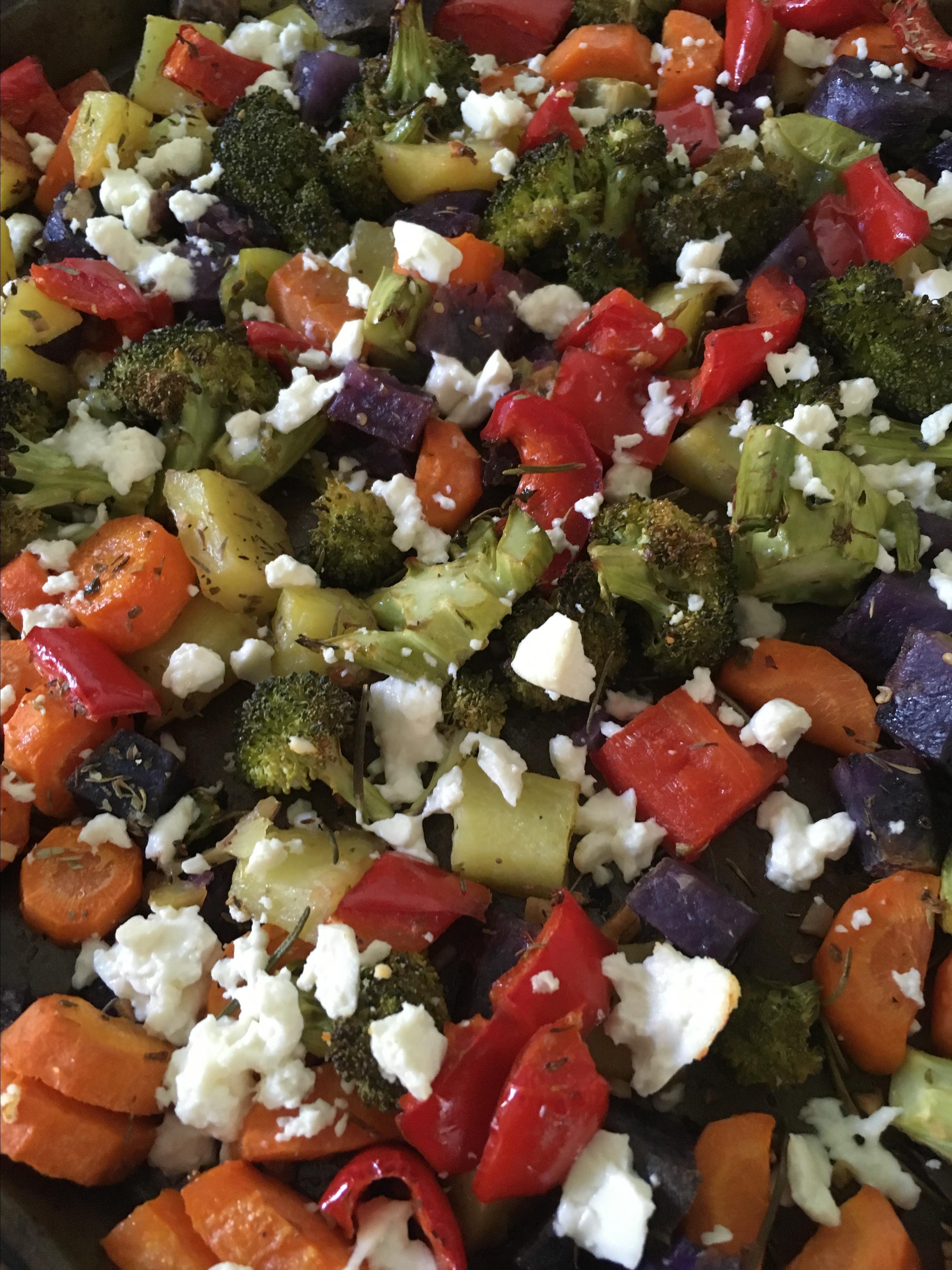 Sheet Pan Vegetable Dinner with Feta Lena