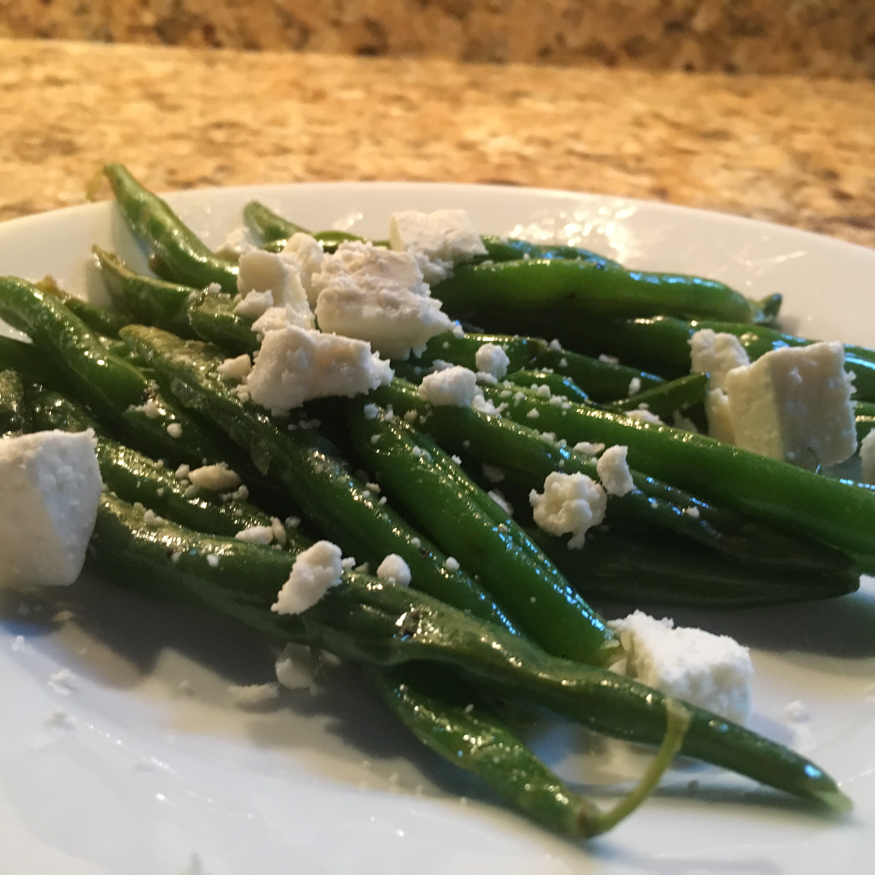 Snow on the Mountain Green Beans