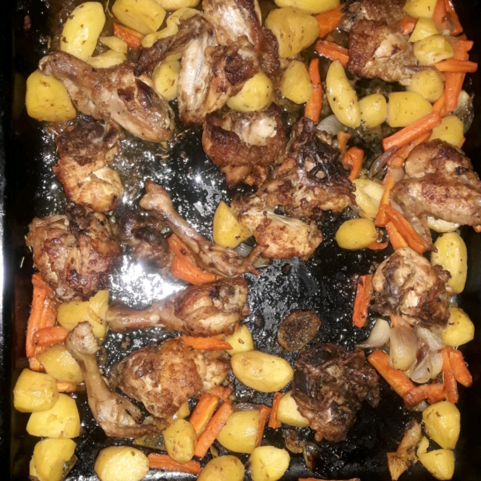 Pan-Roasted Chicken with Vegetables and Herbs Vanessa Gray Mbawo