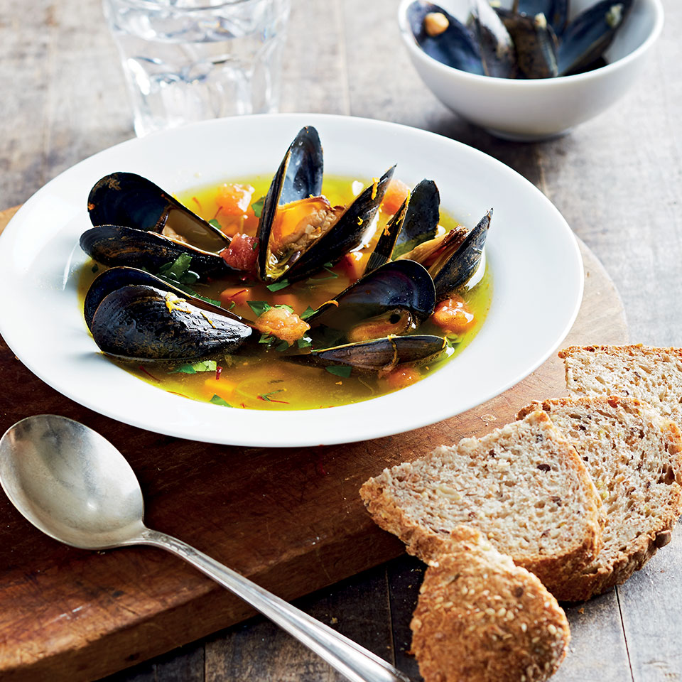 Orange & Saffron-Scented Mussel Soup EatingWell Test Kitchen