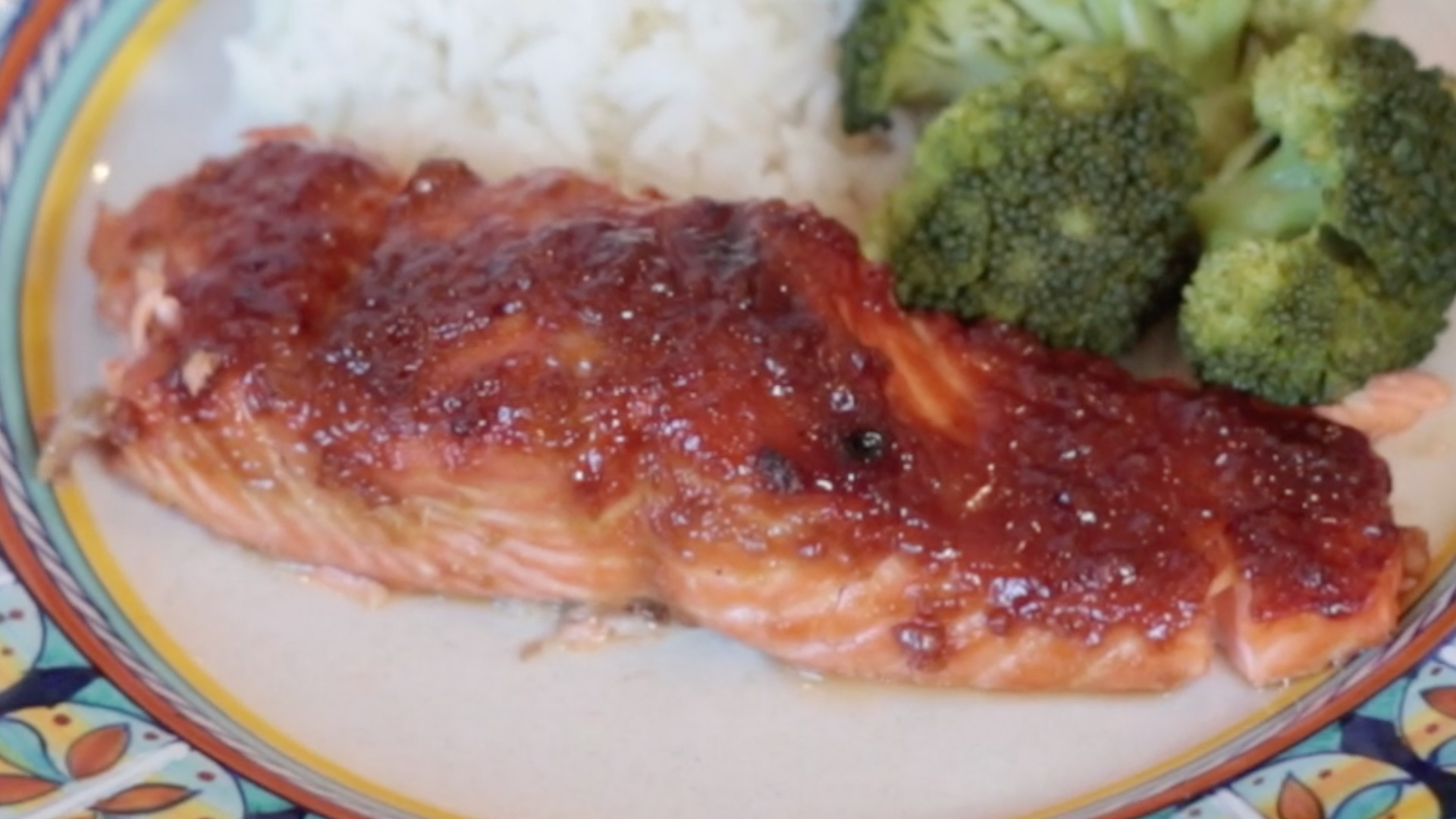 Ginger-Teriyaki Glazed Salmon