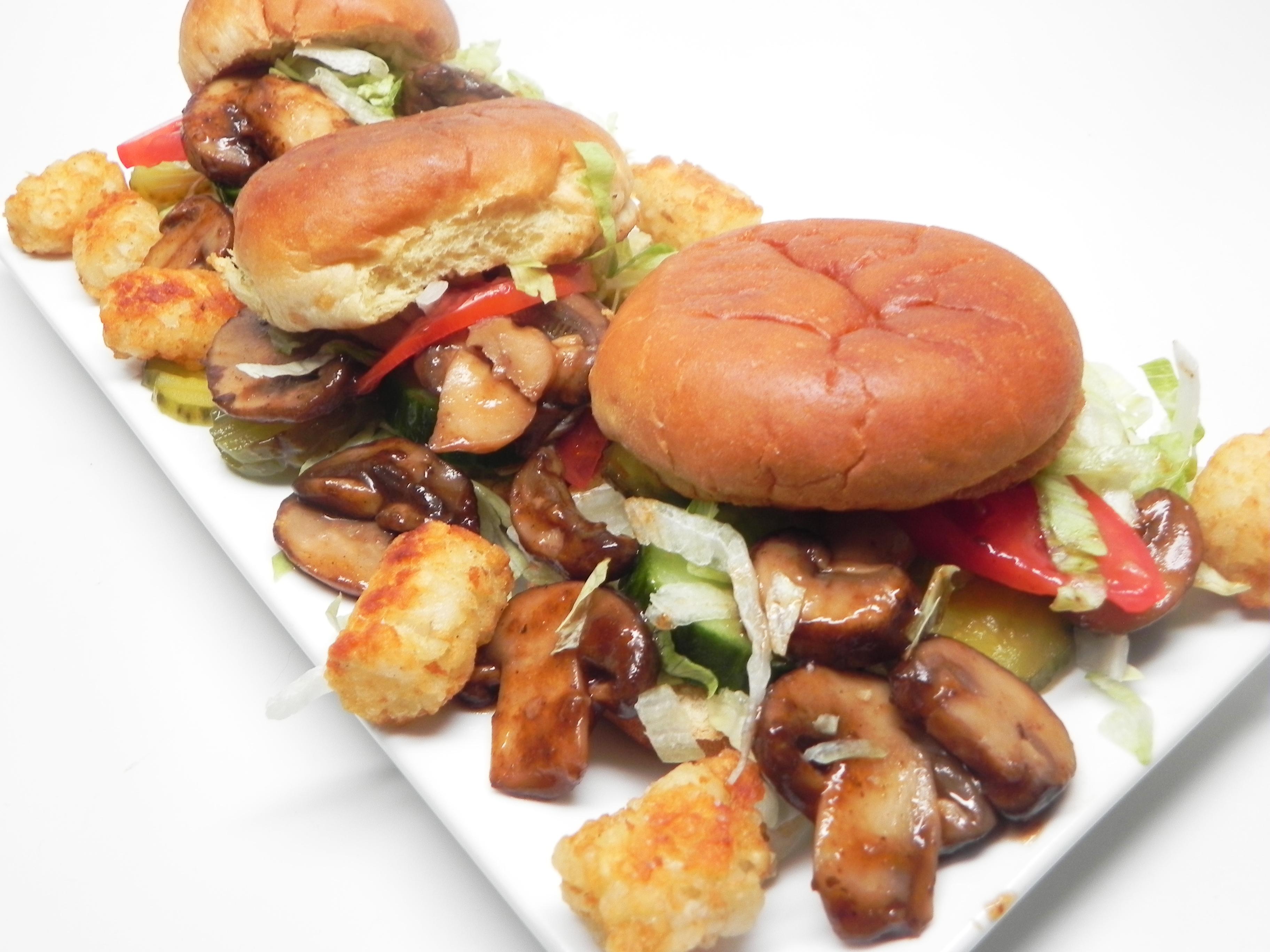 Vegetarian Mushroom Sliders