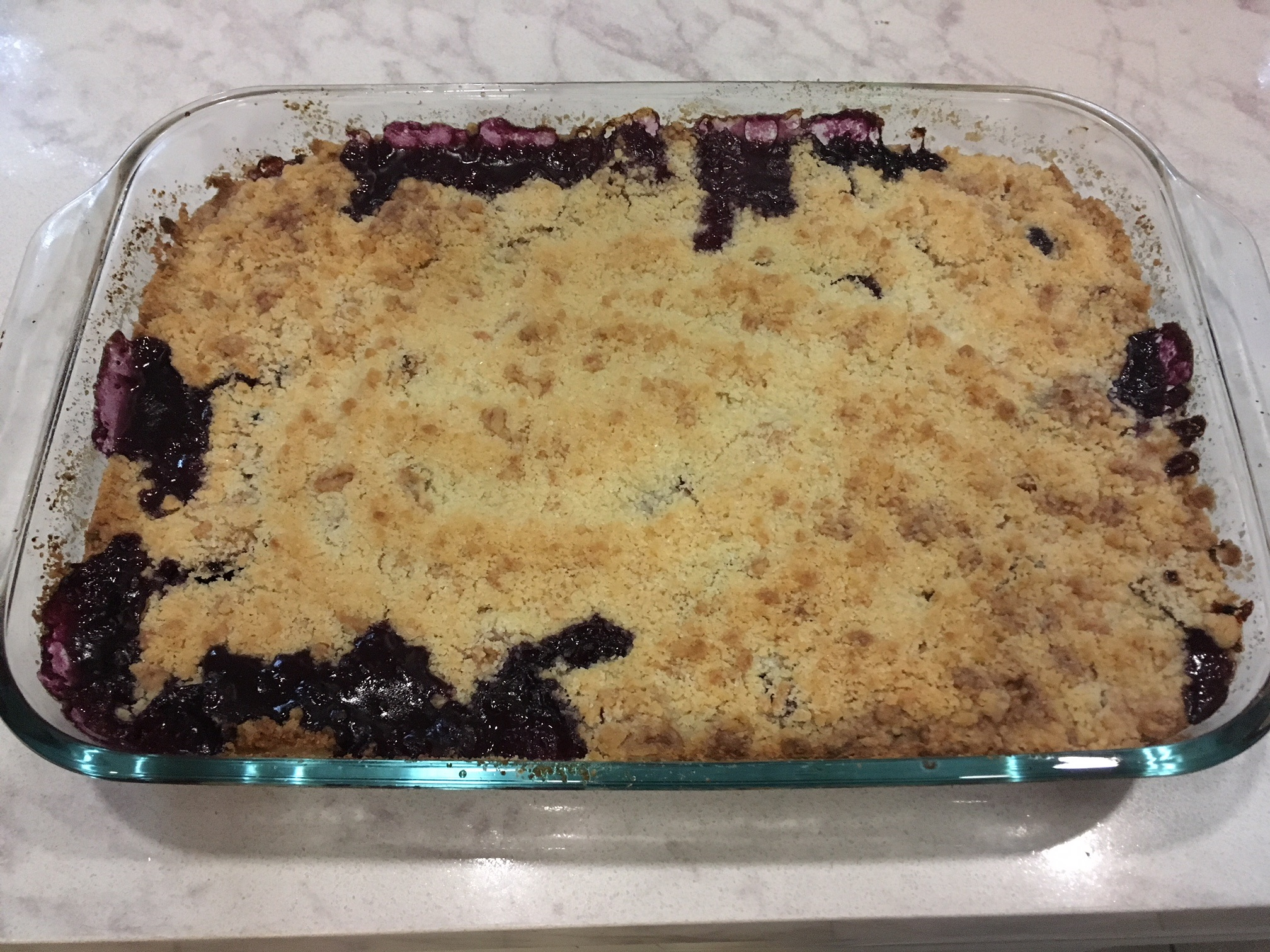 Peach and Blueberry Cobbler anina