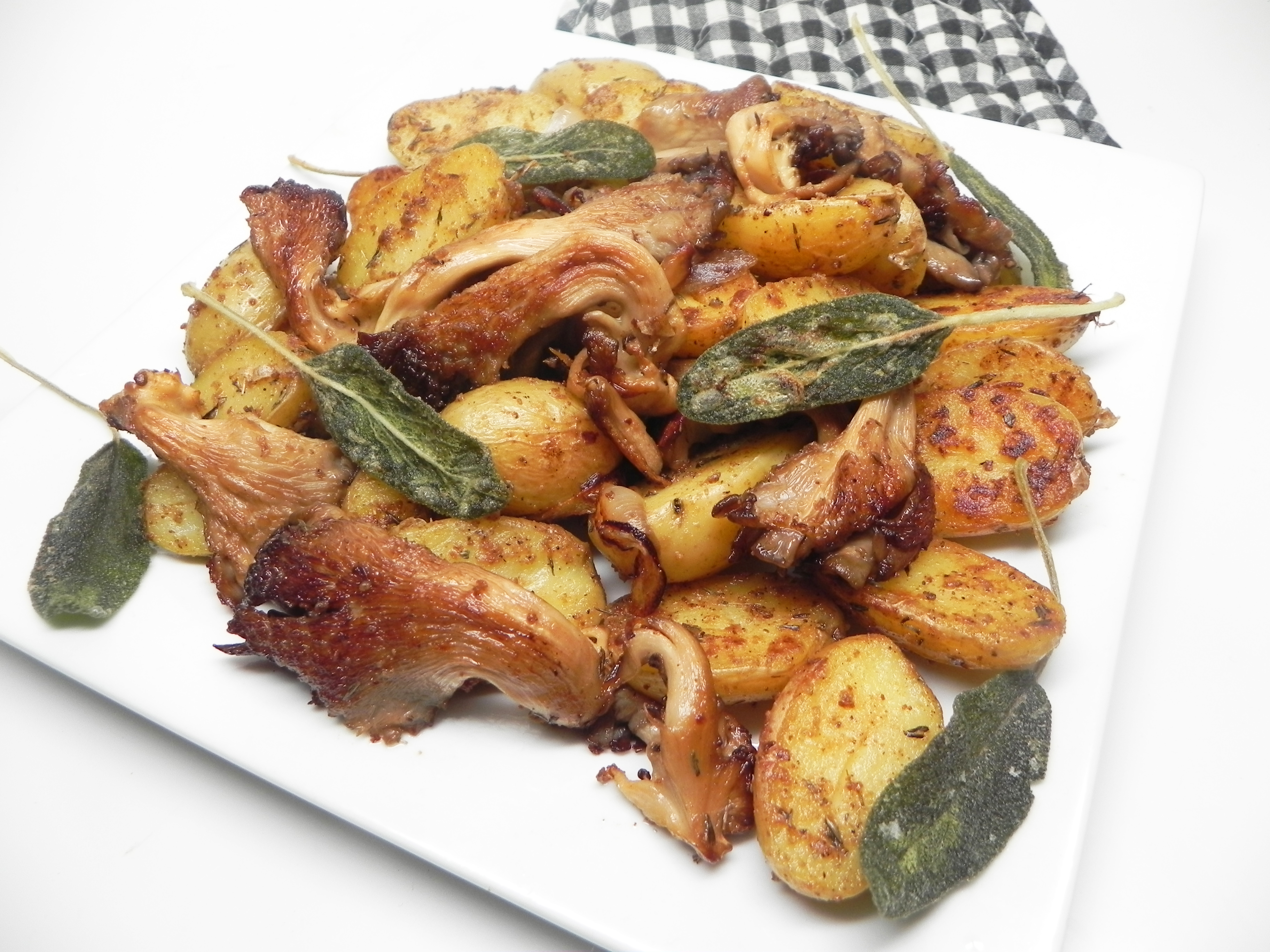 Classy Chanterelle Mushrooms and Potatoes