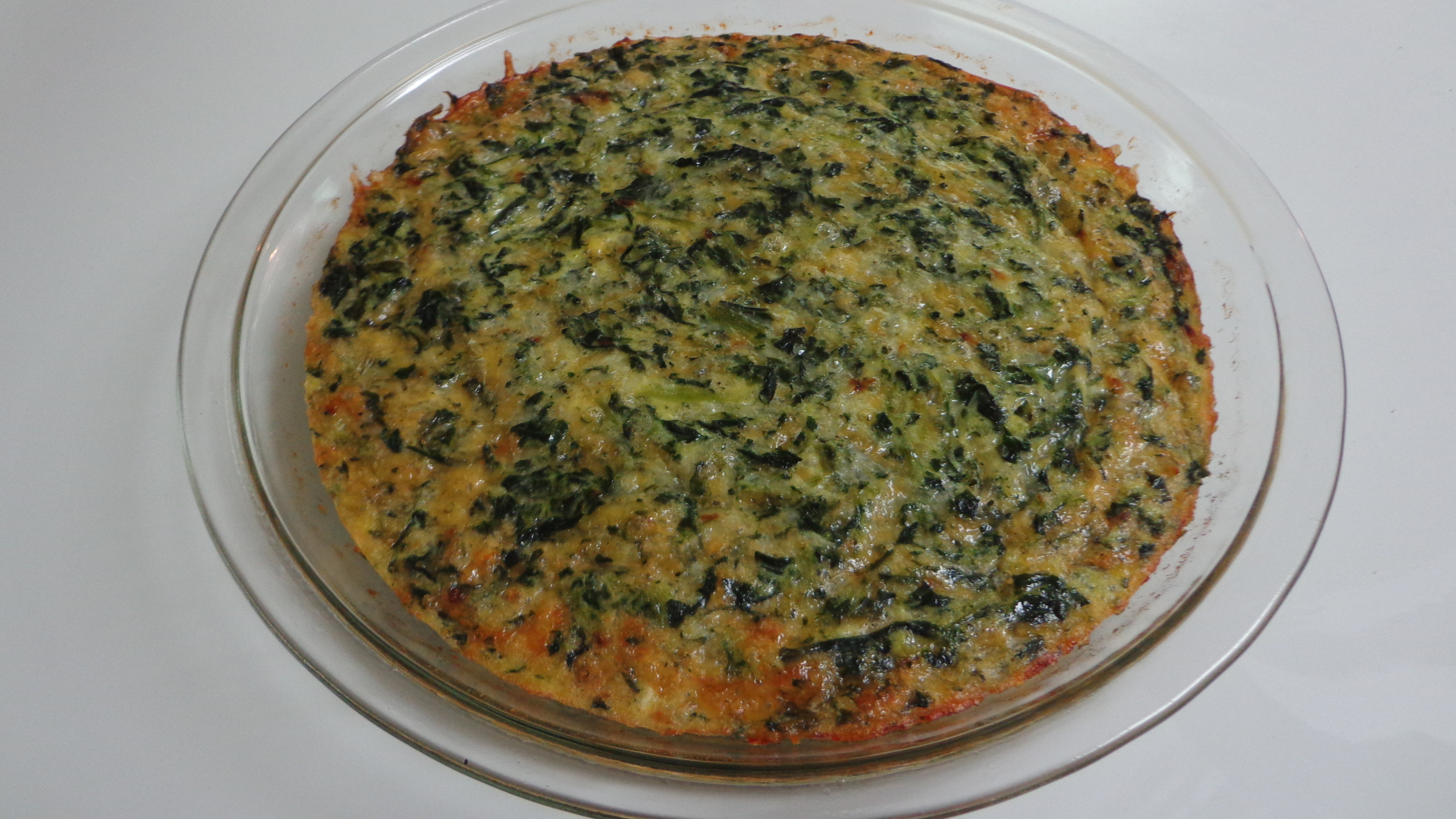 Spinach Quiche with Cottage Cheese