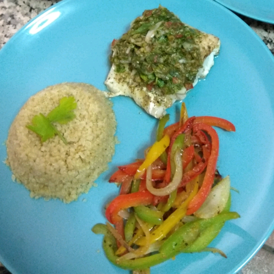 Grilled Cod with Spinach and Tomatoes Nesper