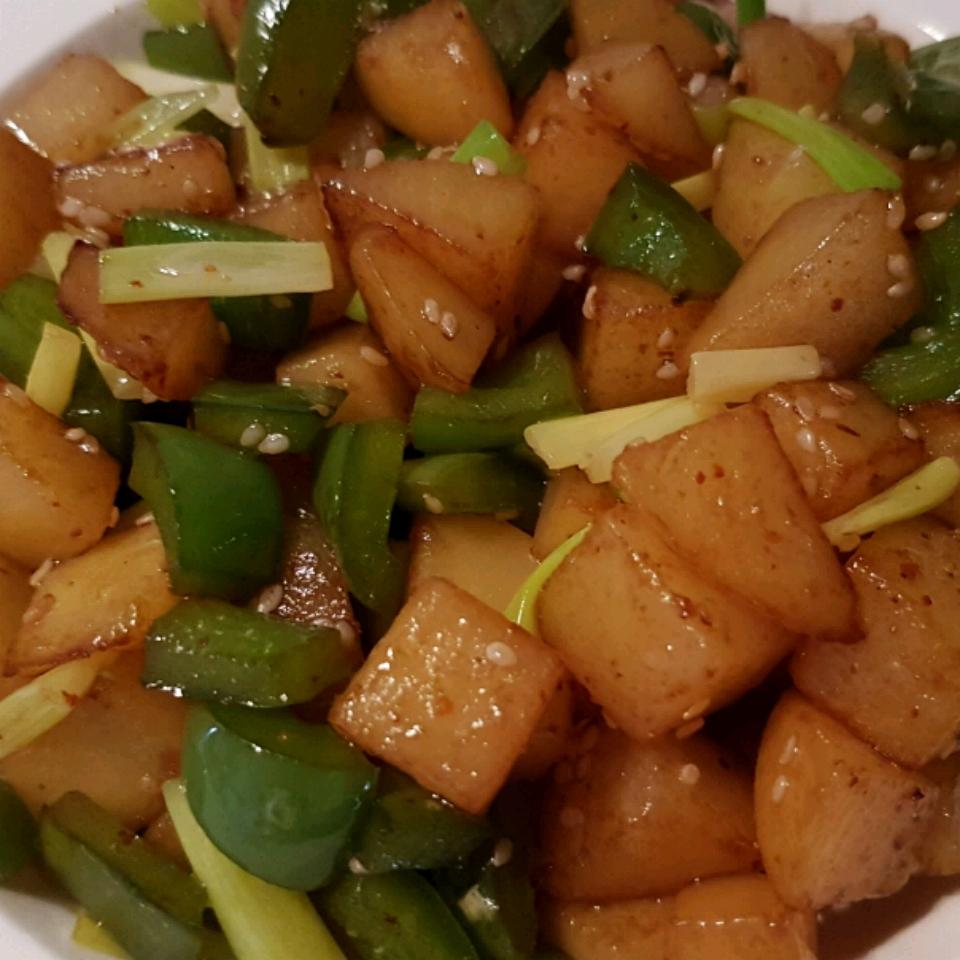 Fiery Red Pepper Potatoes Cinte Kimi