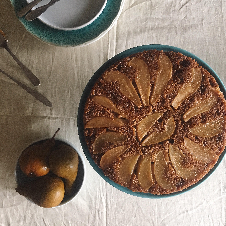 Pear Upside-Down Graham Cake LauraF