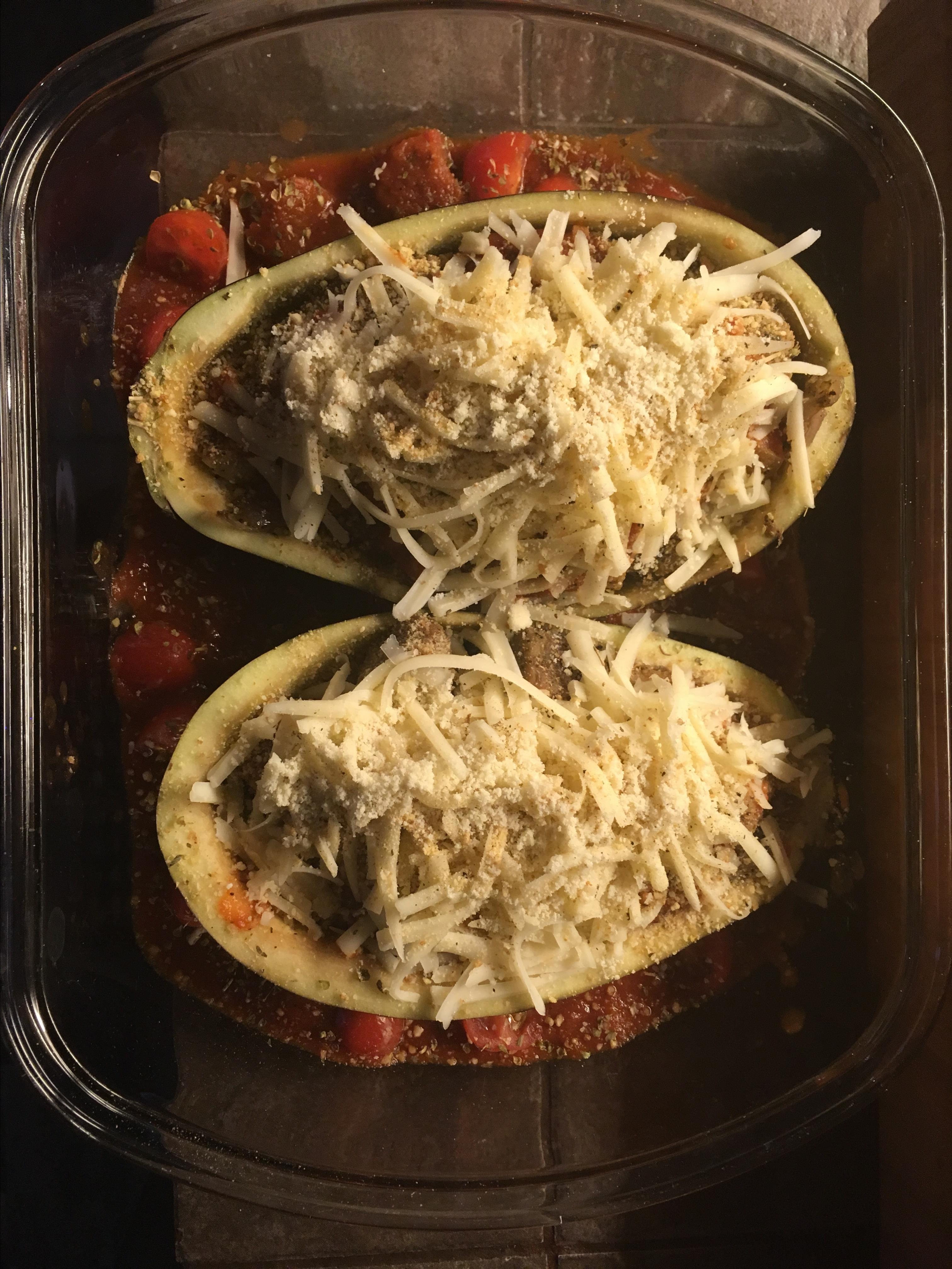 Stuffed Eggplant Parmesan Hannah Jane Hensely
