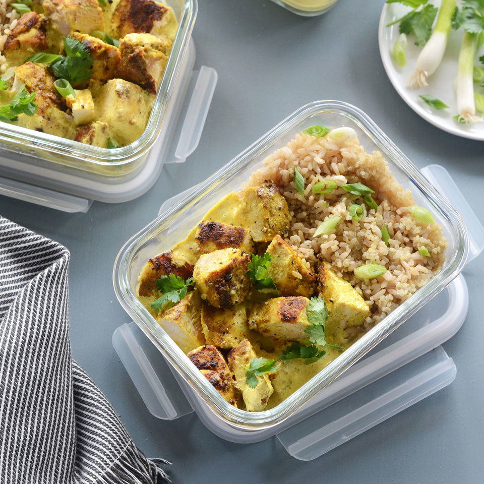 Meal-Prep Curried Chicken Bowls Trusted Brands
