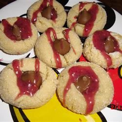 Raspberry Almond Kiss Cookies