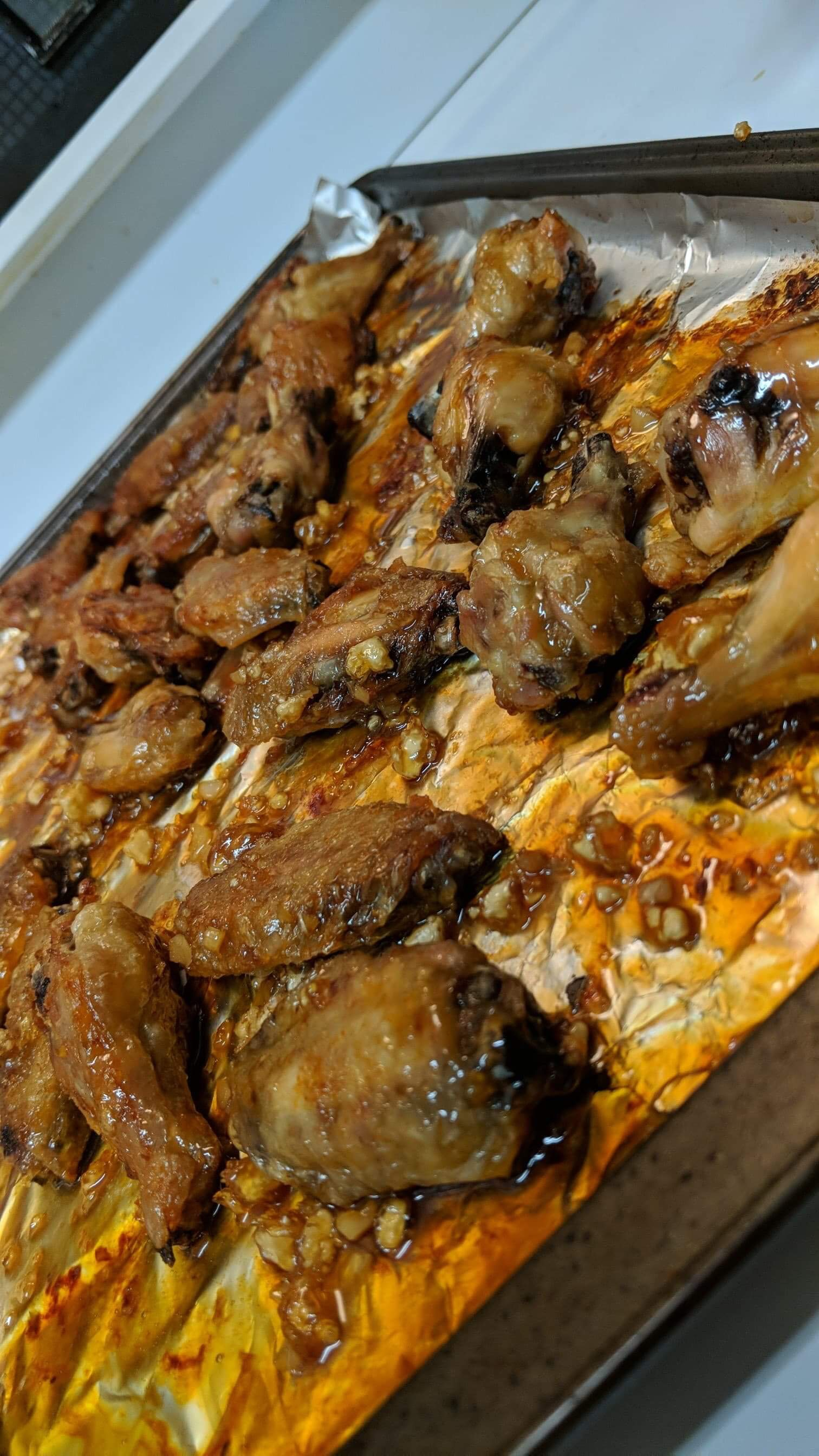 Krista's Sticky Honey Garlic Wings