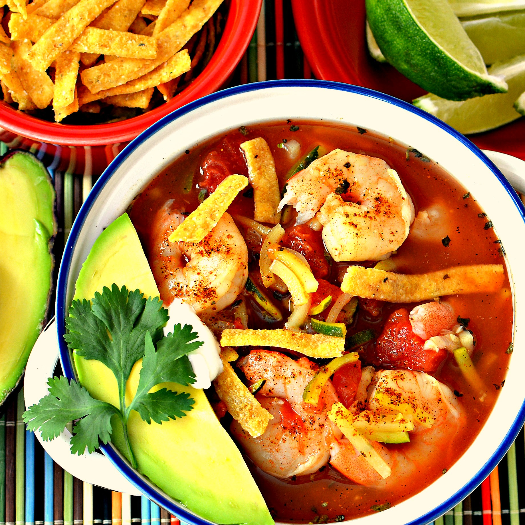 Spicy Shrimp Tortilla Soup with Zucchini Noodles bd.weld