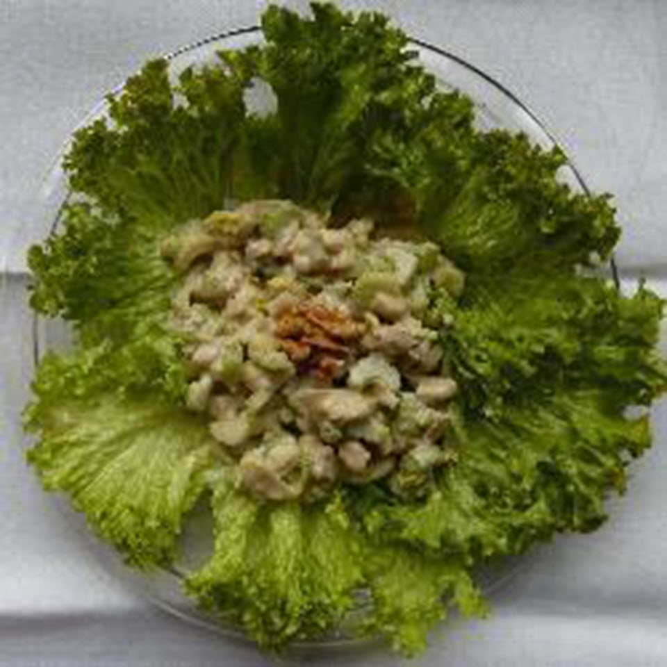 Celery Salad with Apple and Walnuts