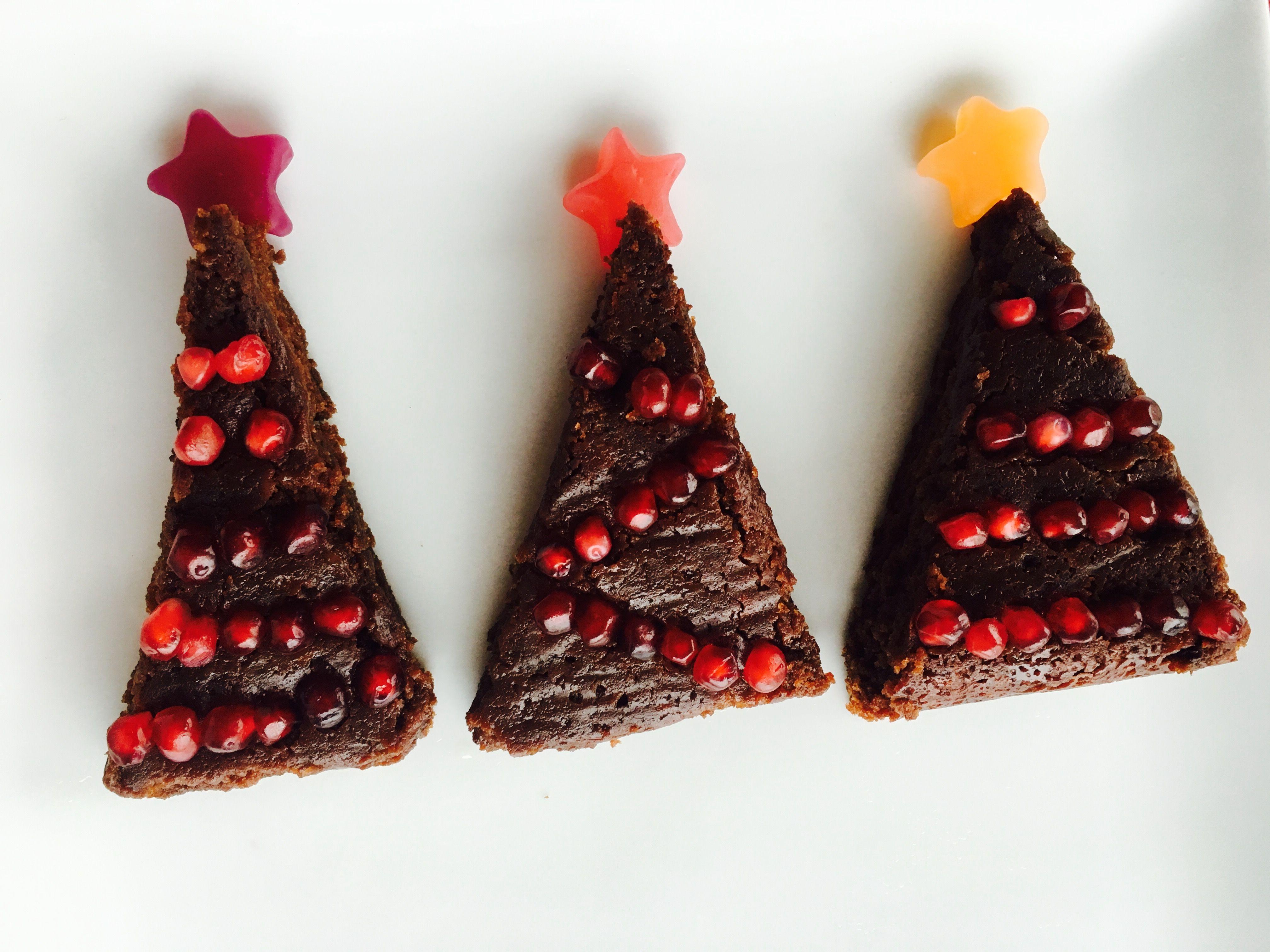 Vegan Christmas Tree Brownies