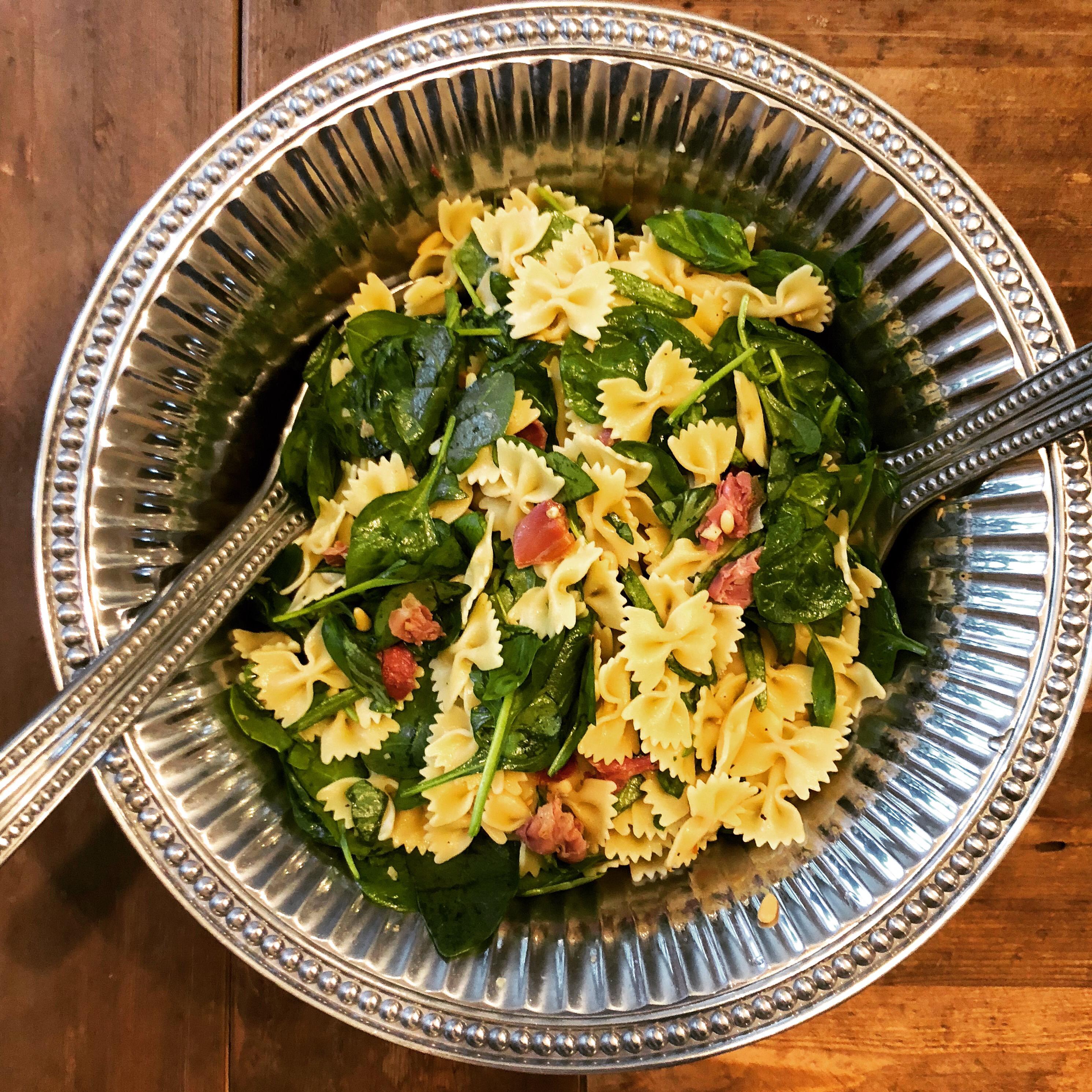Spinach Basil Pasta Salad _jennifer