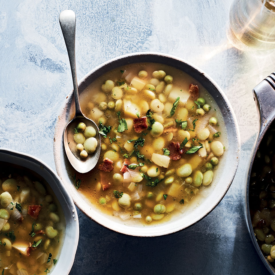 Not a lima bean lover? This soup could flip you. The limas get some support from baby peas and a decent amount of tarragon to deliver a definitive taste of spring.