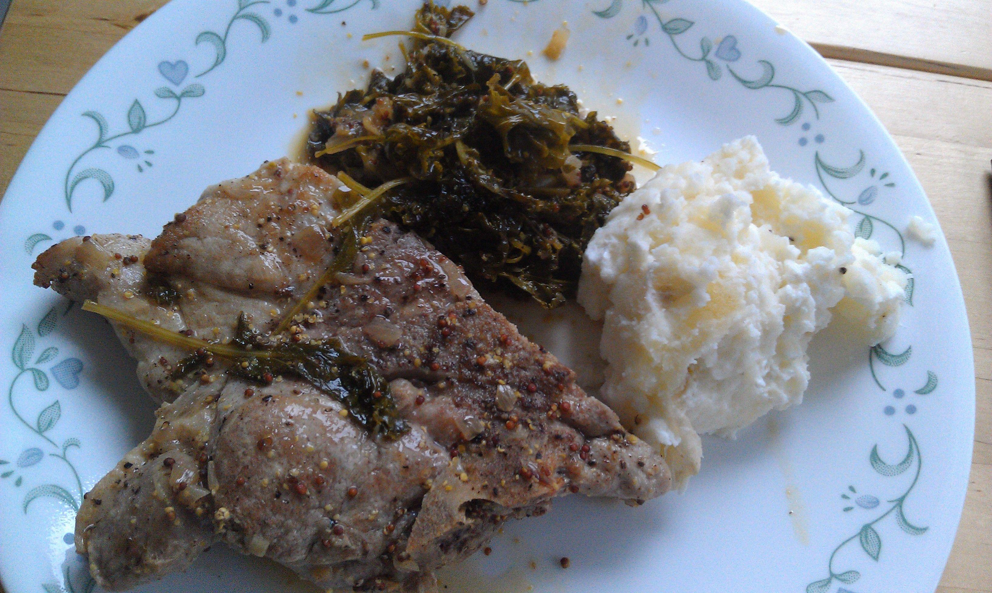 Pork Chops and Kale Eli