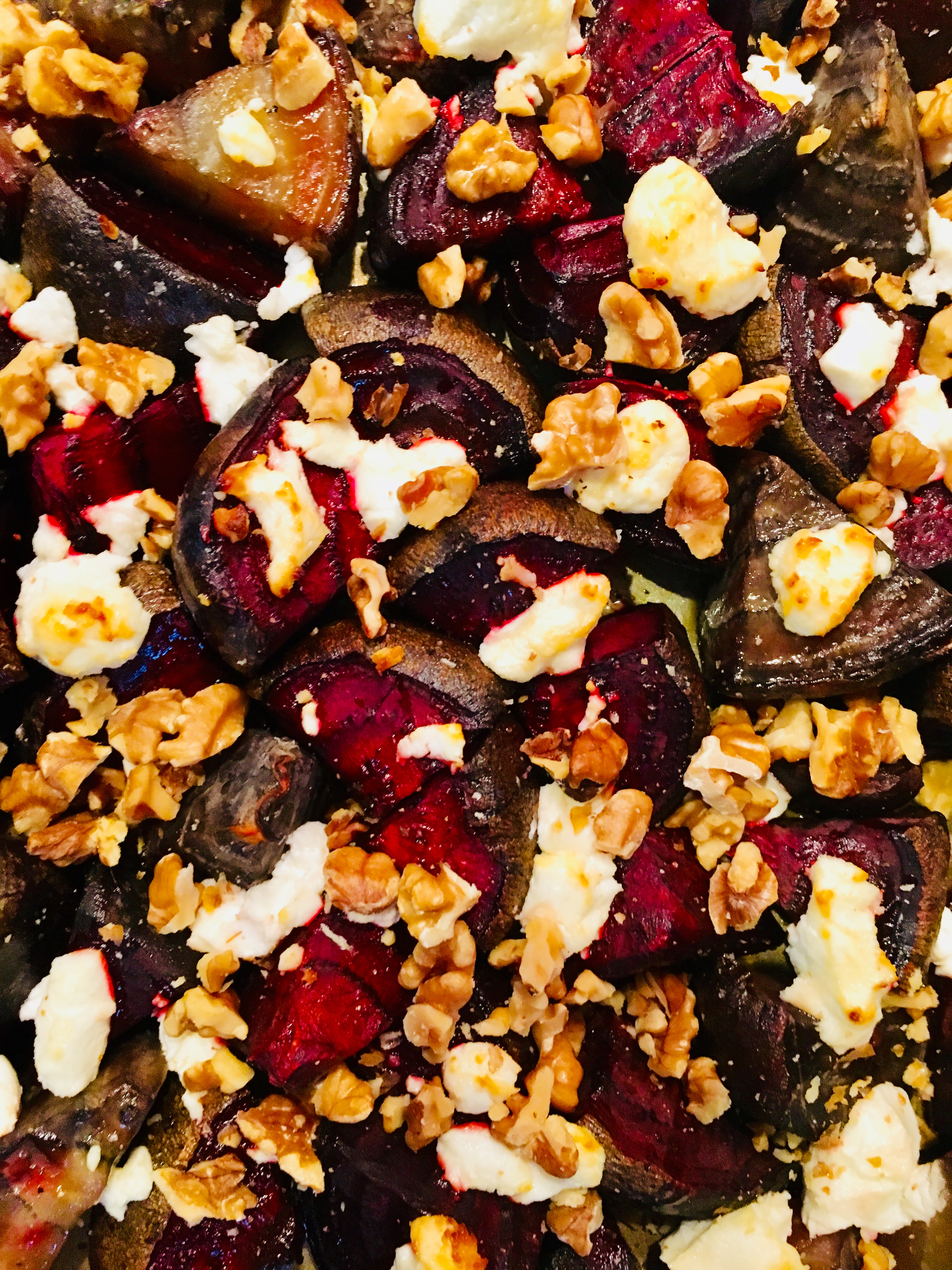 Roasted Beets with Goat Cheese and Walnuts CookingIsArt