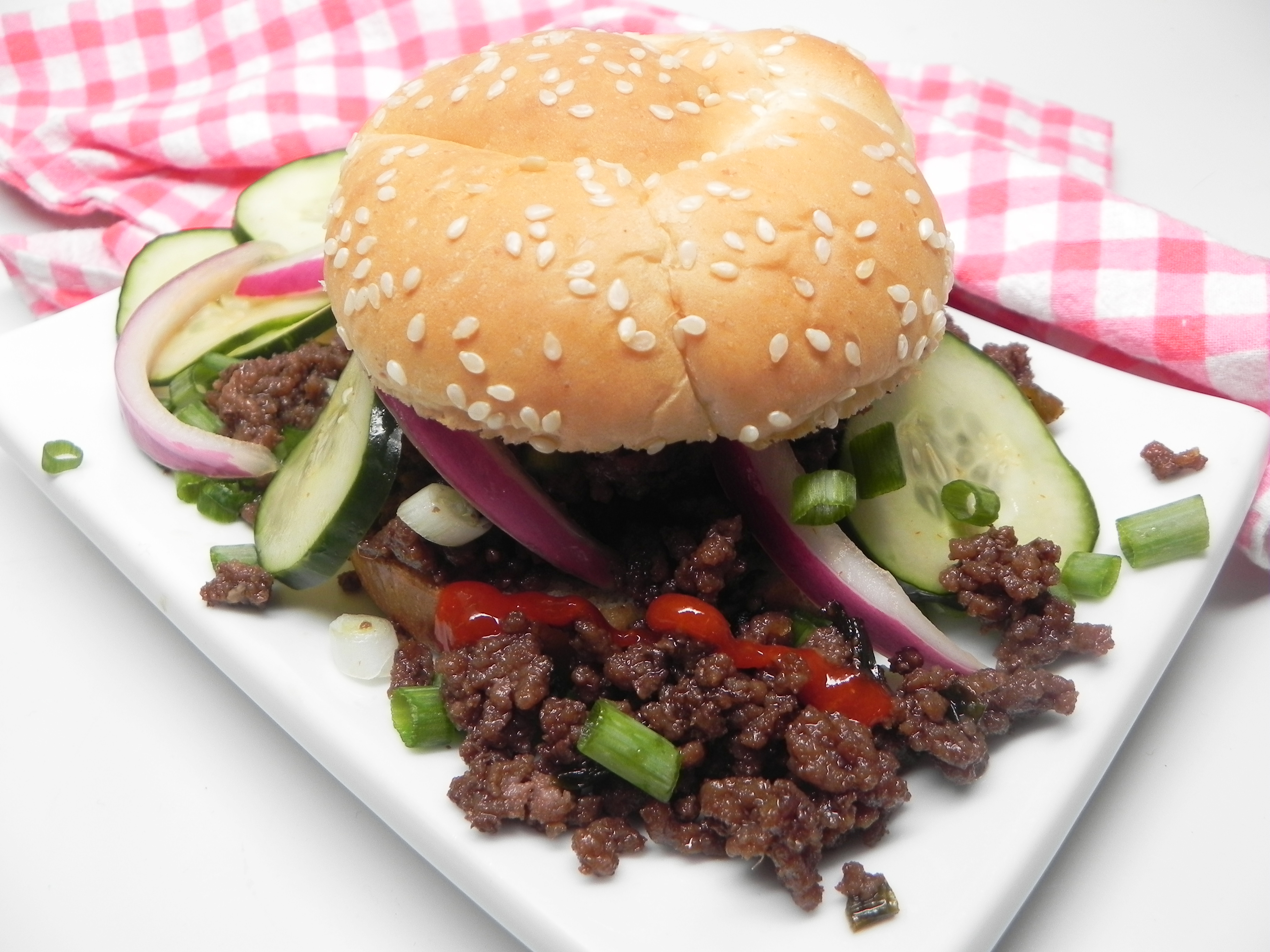 This recipe takes a tangy American classic and mashes it up with the spicy flavors of Korean bulgogi to create an instant hit. Sriracha sauce, garlic puree, ginger paste, soy sauce, and ginger paste provide big, big flavor in this phenomenal, 5-star fusion.