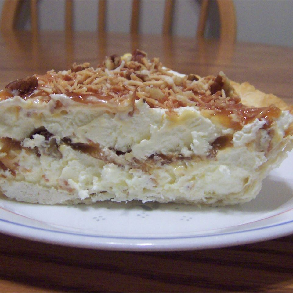 Toasted Coconut, Pecan, and Caramel Pie Kelli F