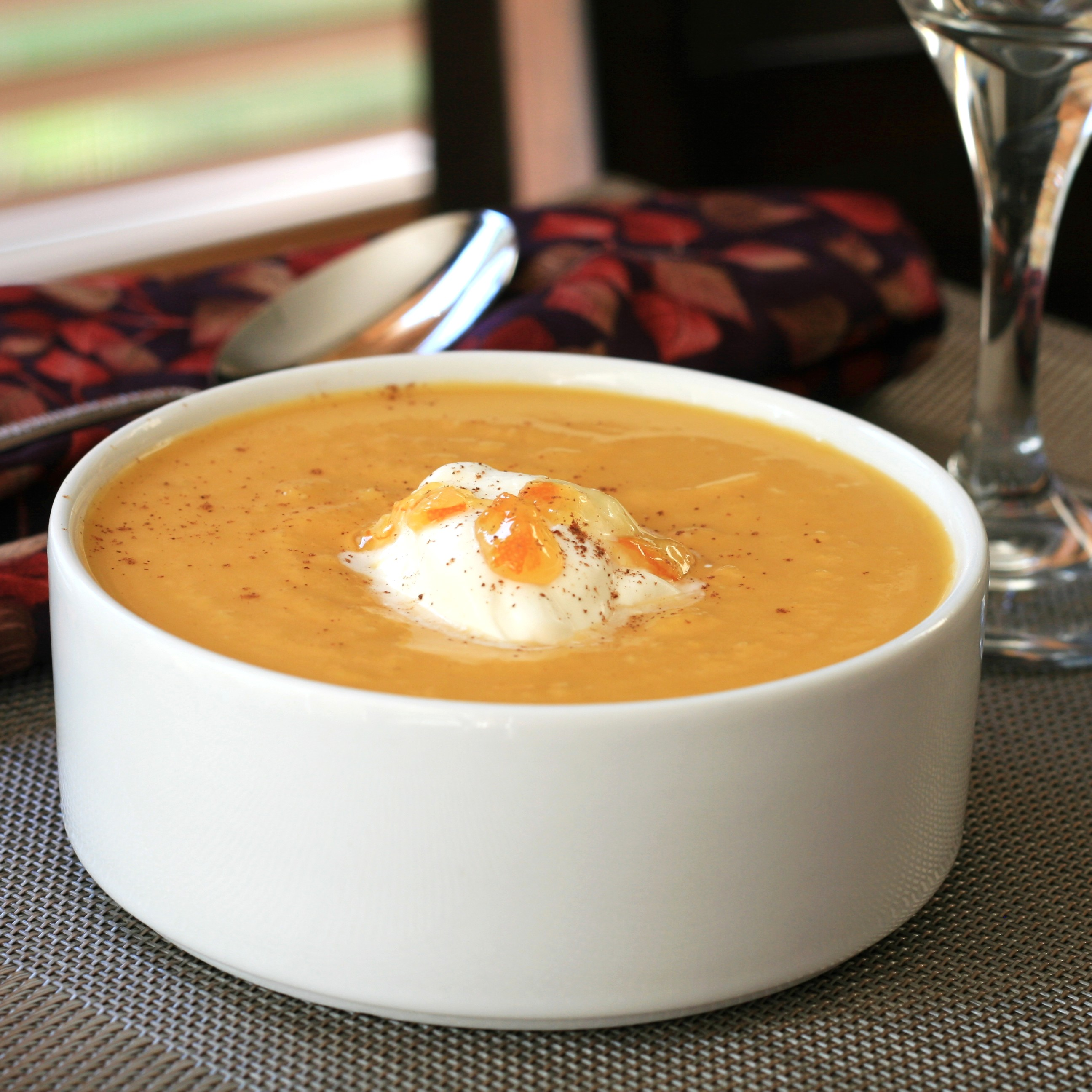 Roasted Butternut Squash and Fennel Soup with Citrus