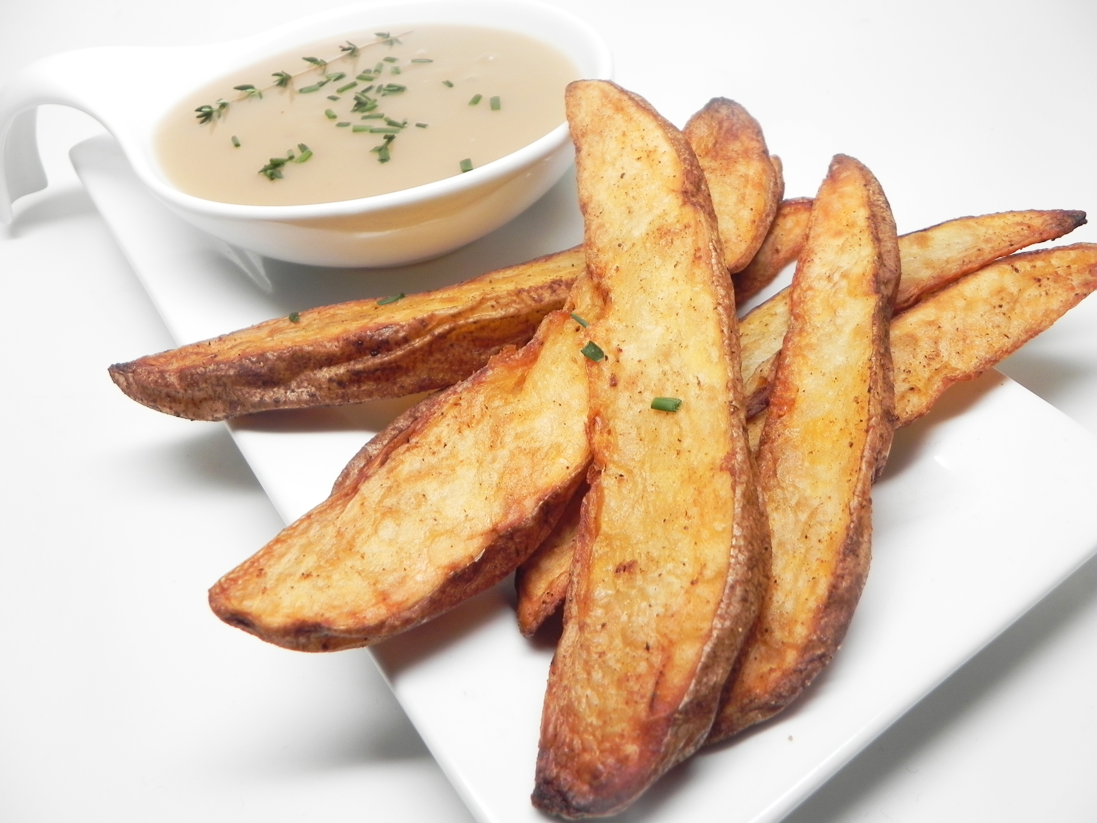 Air-Fryer Potato-Skin Wedges
