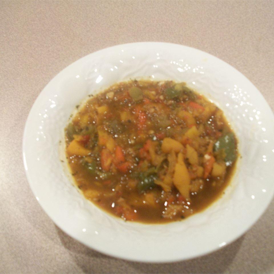 Rainbow Roasted Pepper Soup Kelee