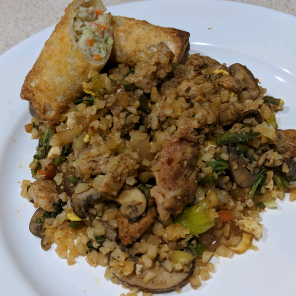 Spicy Cauliflower Fried 'Rice' with Pork Cory Bovair