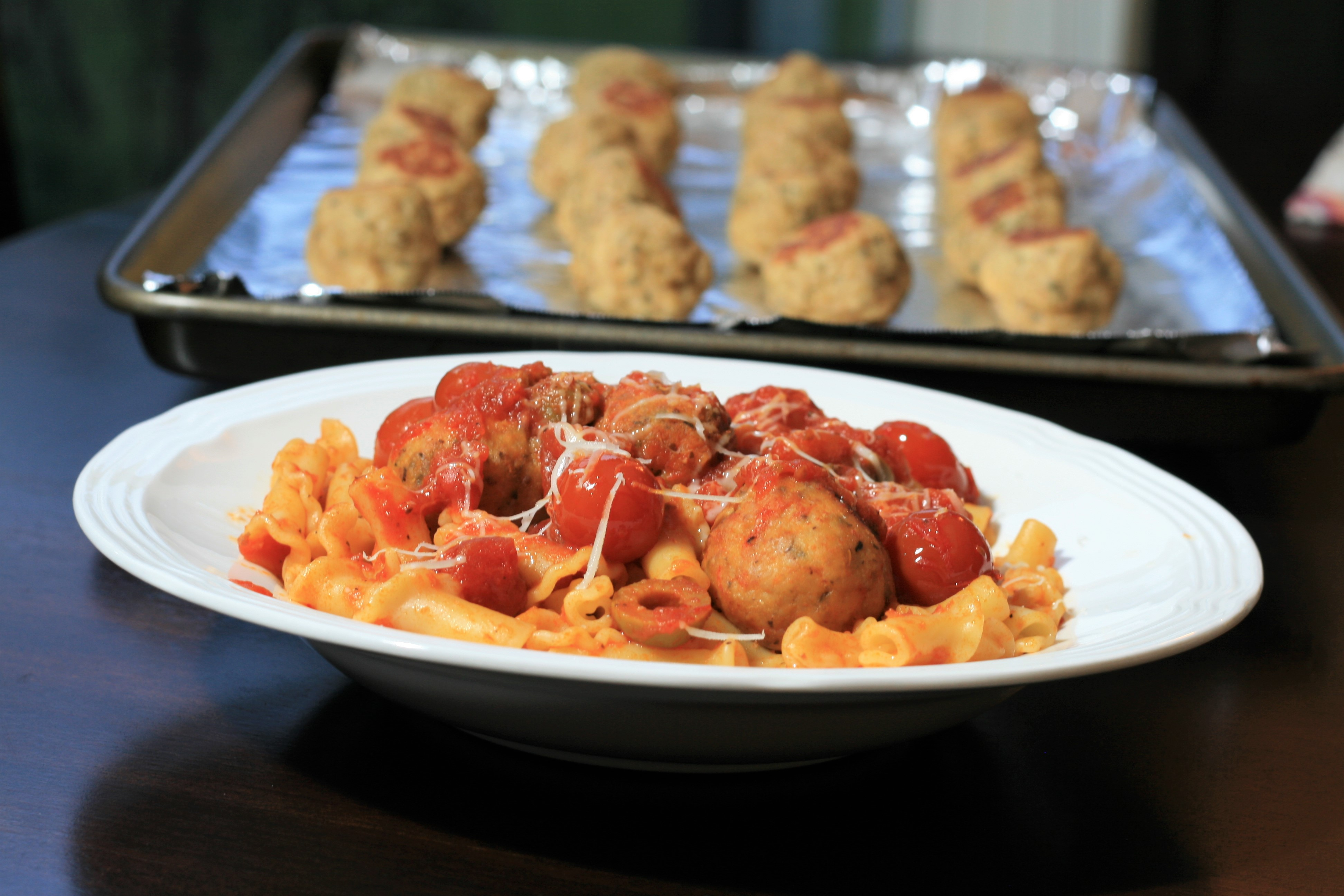 Baked Chicken Meatballs France C