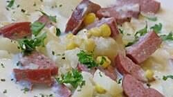 New Orleans Corn Bisque with Smoked Sausage