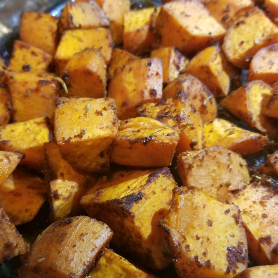 Cajun Style Baked Sweet Potato
