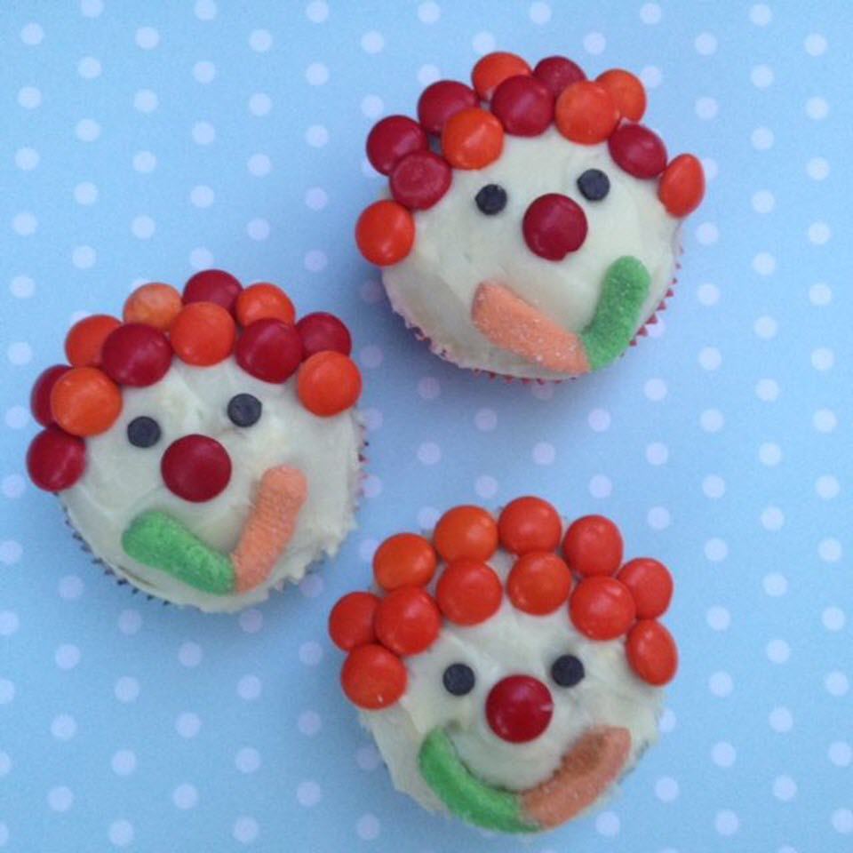 Clown Cupcakes barbara