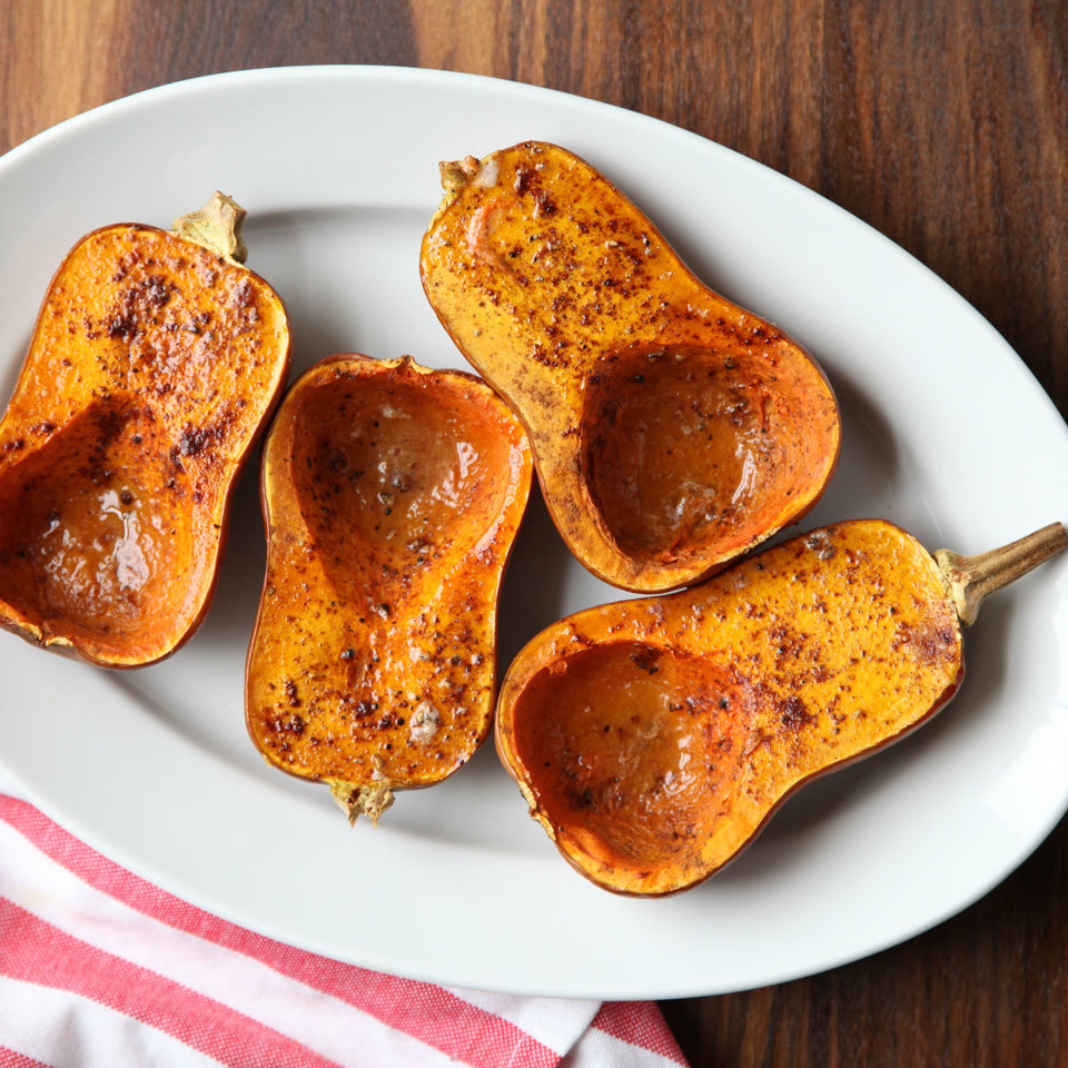 Honeynut squash looks just like mini butternut squash, but on the inside you'll find an even sweeter, deeper orange flesh. This winter squash has only been available at farmers' markets and in select grocery stores for a few years. If you see it, grab a few to try! This simple roasting method enhances the natural flavor of the squash with butter and spices.